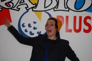 La conteuse Élodie Mora, en décembre 2016, à Radio Plus