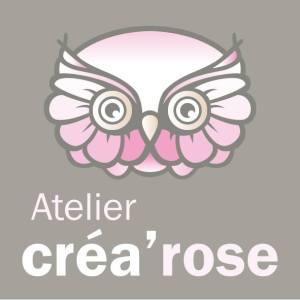 Logo atelier Créa'rose (art floral dans le Béthunois)