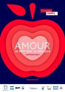 """affiche expo """"Amour"""" - Louvre-Lens, automne 2018"""