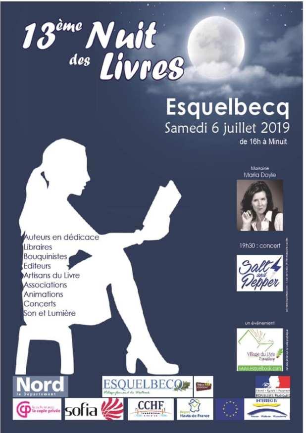 Affiche 13ème édition de La Nuit des Livres - Esquelbecq
