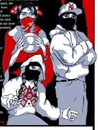 Zapatistas in Oventik, CaliAztlan, and Nueva York. Source: Visual Resistance, www.visualresistance.org