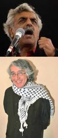 Top: Historian and author, Tariq Ali. Bottom: Alternative Radio founder and producer, David Barsamian. Source: Indymedia Ireland, Alternative Radio