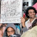 Professor Richard D. Wolff speaks with the Wall Street Occupiers during the Open Forum