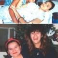 Top: Gina and her daughter Amanda at Modesto Community Hospital. Bottom: Grace and Gina
