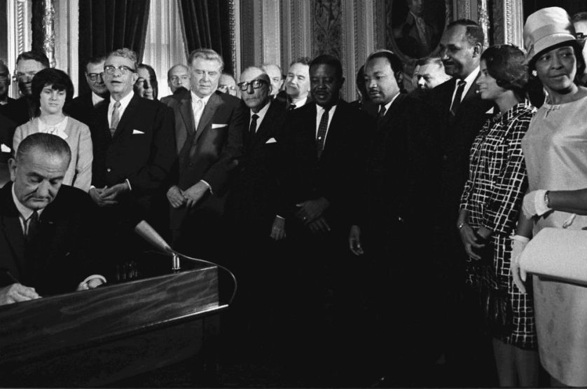 President Lyndon Johnson Signs the Voting Rights Act