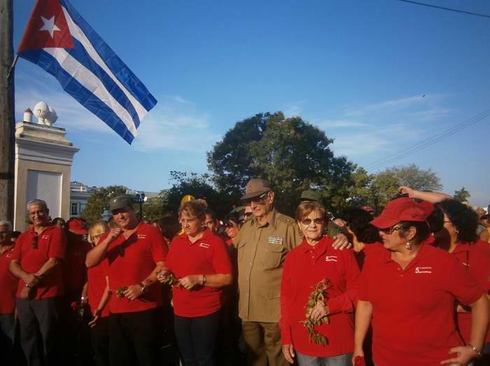 Estuvieron presentes el Comandante del Ejército Rebelde y protagonista del alzamiento, Julio Camacho Aguilera y uno de los Cinco Héroes de la República de Cuba, Ramón Labañino Salazar en recordación del levantamiento del 5 de septiembre de 1957.Foto Mireya Ojeda