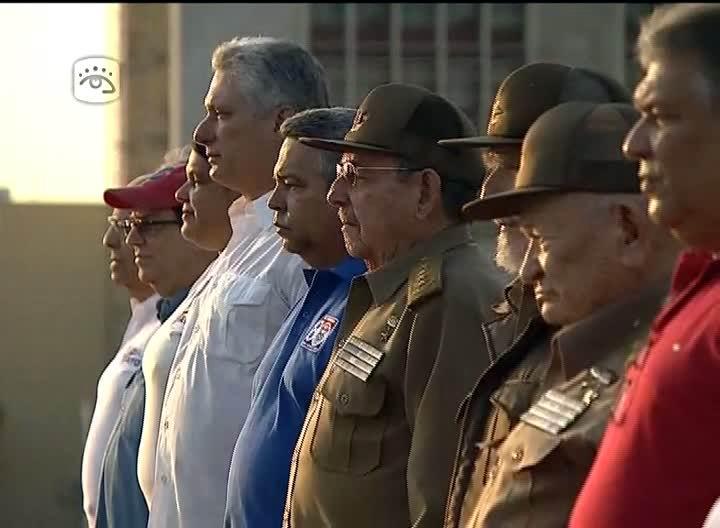 Raúl y Miguel Díaz-Canel encabezan celebración por el 1ro. de Mayo