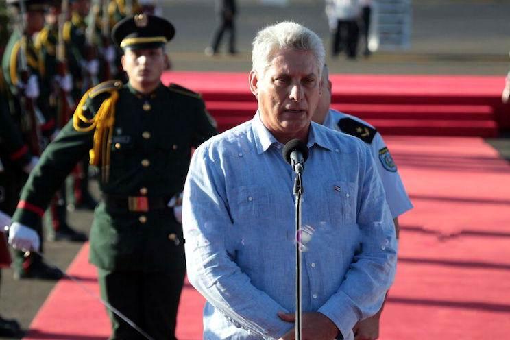 Resultado de imagen para diaz canel llega a nicaragua 2017