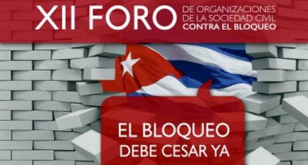 XII Foro de Organizaciones de la Sociedad Civil de la Isla contra el bloqueo de Estados Unidos