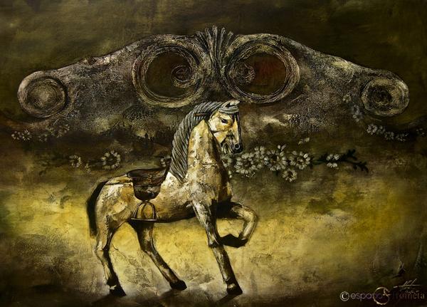 Sueños antiguos. Pintura de Gilberto Frómeta