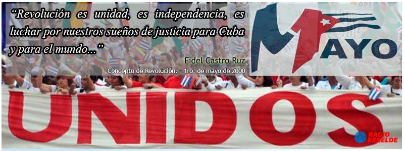 En el desfile de la unidad estará el legado de Fidel