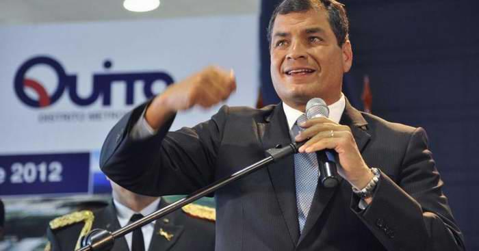Aseguró Correa que no permitirá que se atente contra la paz de Ecuador
