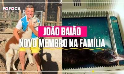 João Baião mostra novo membro da família