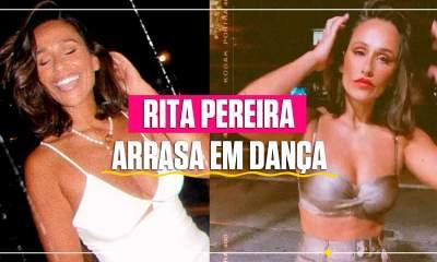 Rita Pereira a dançar
