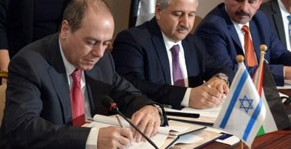 Signing of Dead Sea Red Sea agreement on dead Sea in Jordan