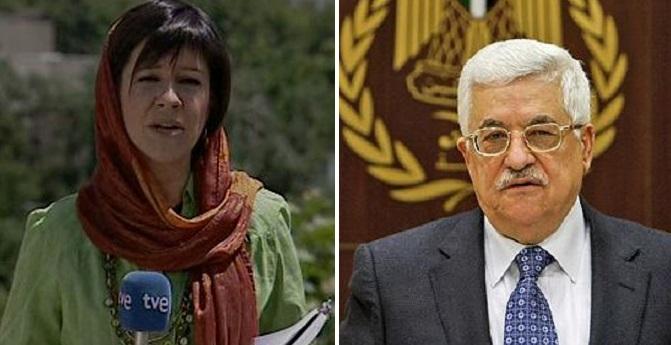 El enfado de Yolanda Álvarez y Mahmoud Abbas