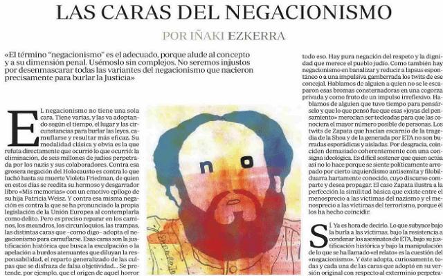Las caras del negacionismo: holocausto y terrorismo, con Iñaki Ezkerra