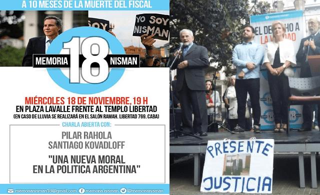 A 10 meses de la muerte de Nisman: acto con Santiago Kovadlof, Pilar Rahola y Marcos Aguinis