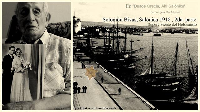 Solomón Bivas, Salónica & refugiados griegos judíos (1945 – 1948)