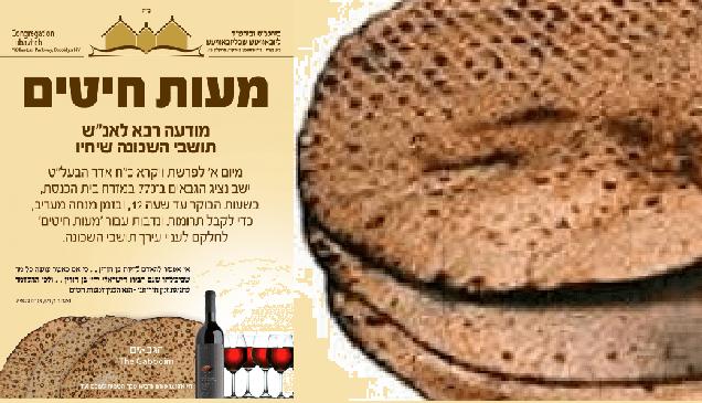 ¿Qué es Maot Jitim (dinero para trigo)?