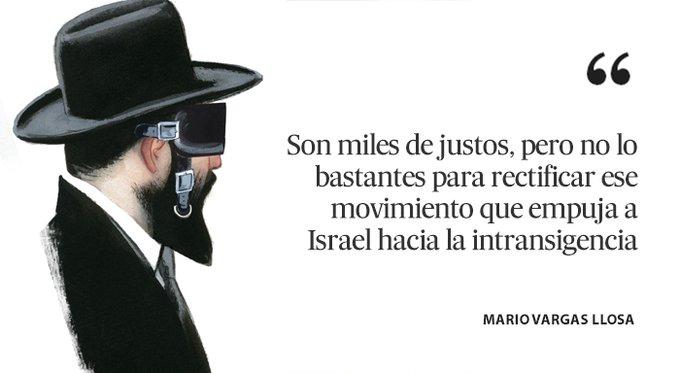 Mario Vargas Llosa encantado de conocerse en Israel