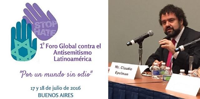 El 1º Foro Contra el Antisemitismo en Latinoamérica, con el director del Congreso Judío Latinoamericano, Claudio Epelman