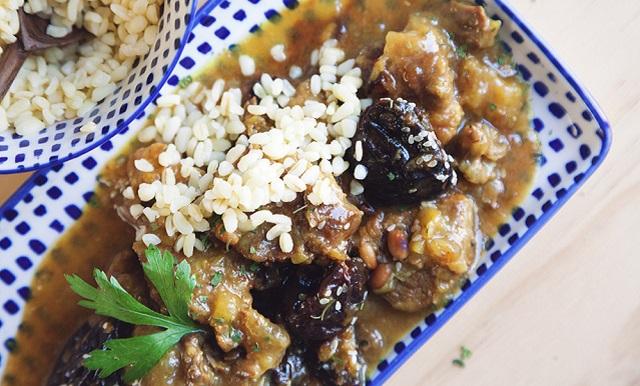 Un menú completo para Rosh Hashaná: ternera con ciruelas y timbal de arroz