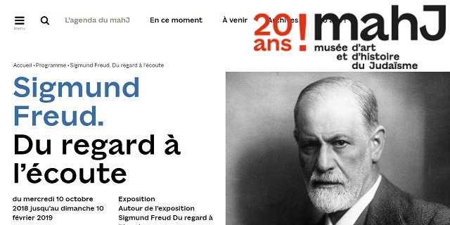 """""""Sigmund Freud. De la mirada a la actitud receptiva"""", en el Museo de Arte e Historia del Judaísmo de París"""