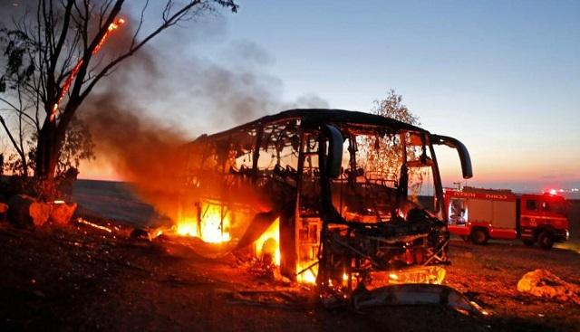 Más de 200 proyectiles lanzados desde Gaza a la caída del atardecer israelí