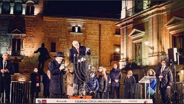 Janucá en la calle 2018 (Plaza de la Villa, Madrid, 3/12/2018)