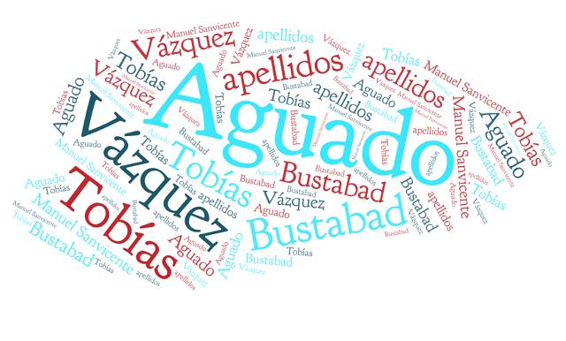 El origen de los apellidos Aguado, Vázquez, Tobías y Bustabad