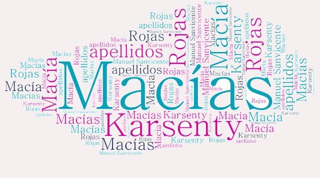 El origen de los apellidos Macía (Macias), Karsenty y Rojas