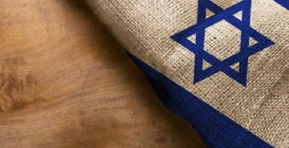 israeli flag on wooden surface