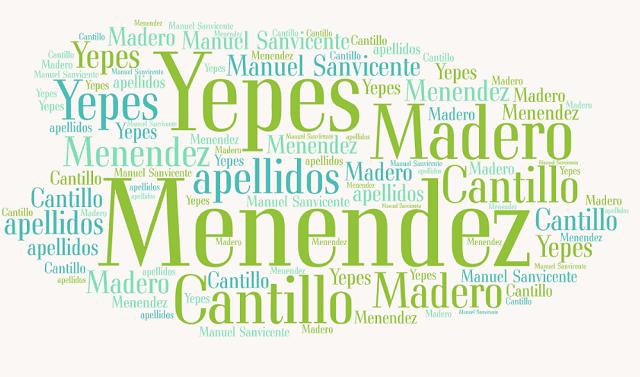 El origen de los apellidos Menéndez, Yepes, Madero y Cantillo