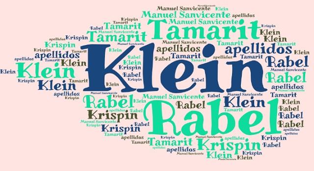 El origen de los apellidos Klein, Rabel, Tamarit y Krispin