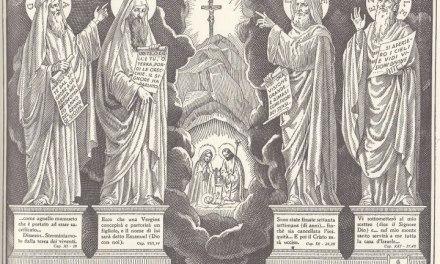 Immagine che spiega come gli antichi profeti annunciarono Cristo