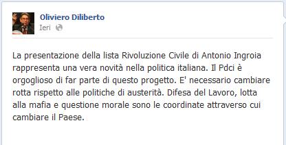 """TROVA le differenze. Dal """"rosso"""" all'arancione. Nuove piroette politiche del """"comunista"""" Diliberto"""