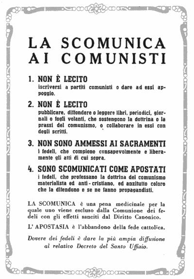 Per il ritorno dei comunisti a Dio