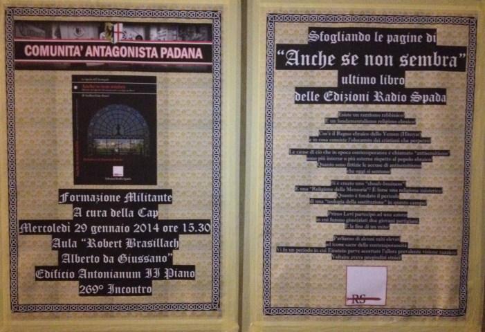 """29 gennaio. Dibattito in Università Cattolica su """"Anche se non sembra"""""""