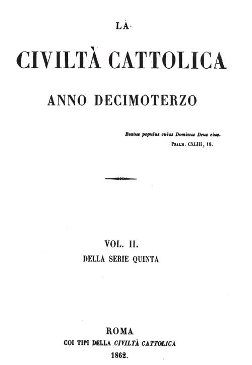 LA CANONIZZAZIONE DEI SANTI, QUANDO «CIVILTÀ CATTOLICA» ERA CATTOLICA!