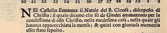 """San Cleofa, trucidato dai giudei perché """"Testimone della Risurrezione"""""""