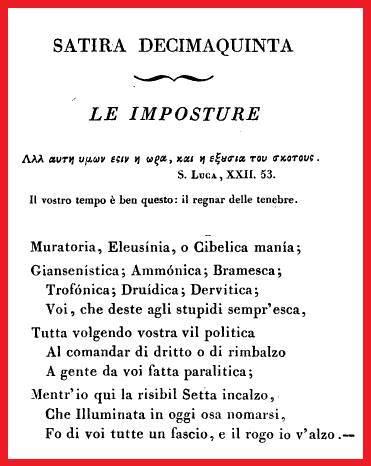 La satira antimassonica del massone Vittorio Alfieri