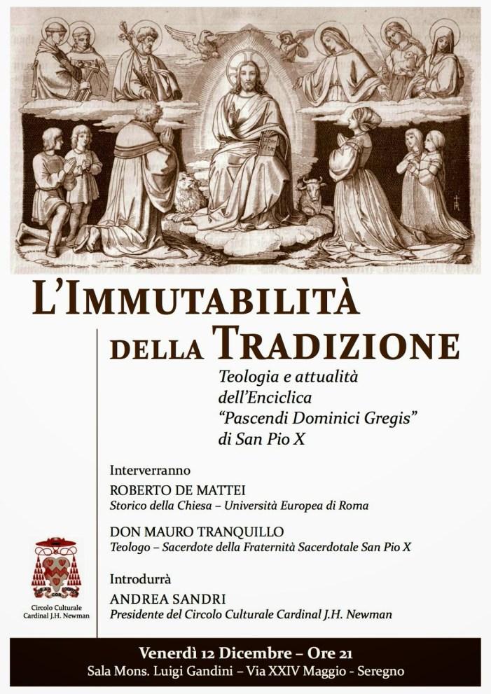 Domani un convegno sull'enciclica 'Pascendi' di S. Pio X