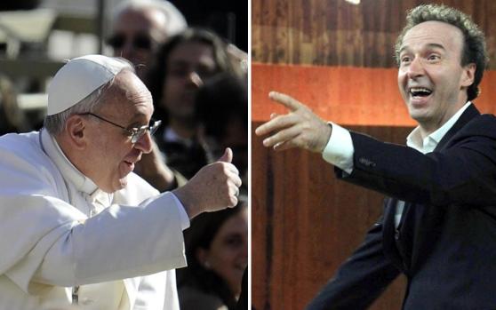 Bergoglio chiama Benigni 'un grande artista italiano'