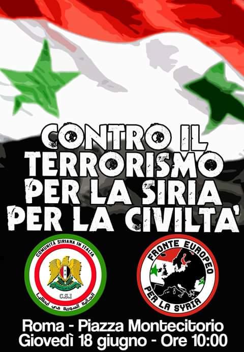 Comitato Italia-Siria – Comunicato