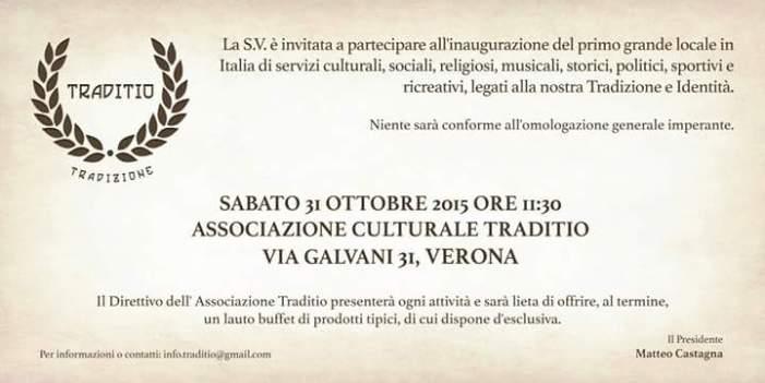 Il 31 ottobre apre 'Traditio' a Verona. Pronti?