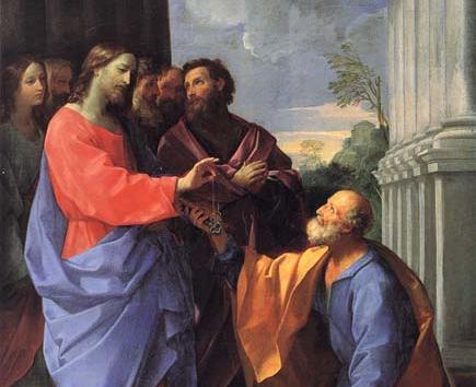 Si prova che i pontefici romani sono successori di San Pietro con la stessa podestà che fu concessa a San Pietro