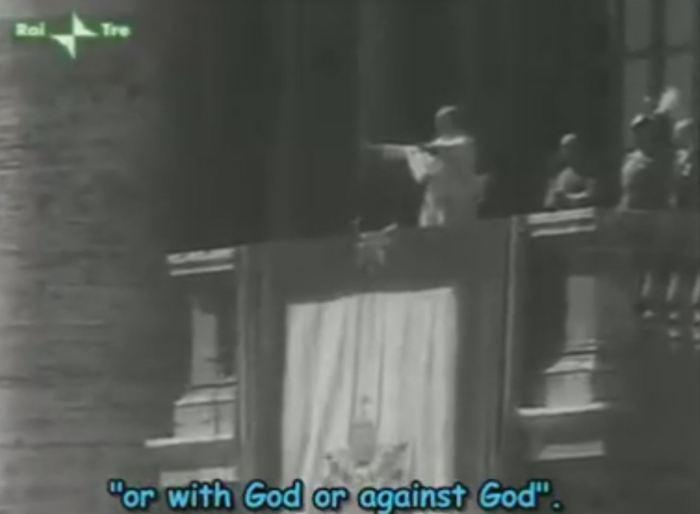 [VIDEO] Pio XII: I Turchi moderni sono i Comunisti. O con Dio o contro Dio!