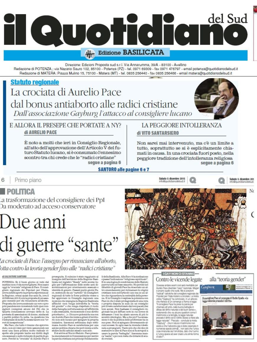 """Il Quotidiano del Sud su Radio Spada: ospita """"omofobi ed antiabortisti"""" che """"infastidiscono i cattolici"""""""