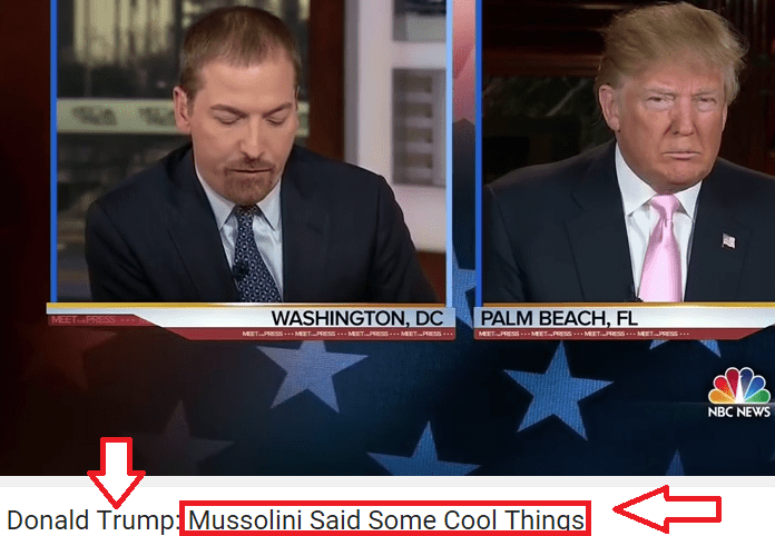 [VIDEO] D. Trump: 'Ho citato Mussolini: ha detto una frase molto interessante'